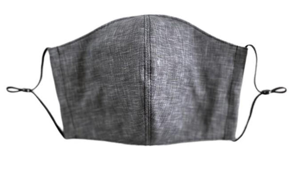Gray Linen Face Cover - LuxeMutt