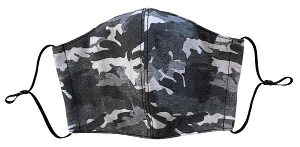 Grey Camo Face Cover - LuxeMutt