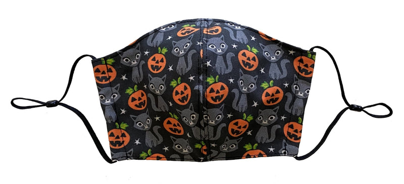 Halloween Cats and Pumpkins Face Cover - LuxeMutt