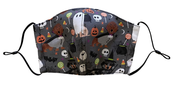 Halloween Doxie Face Cover - LuxeMutt