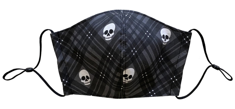 Halloween Plaid Skull Face Cover - LuxeMutt