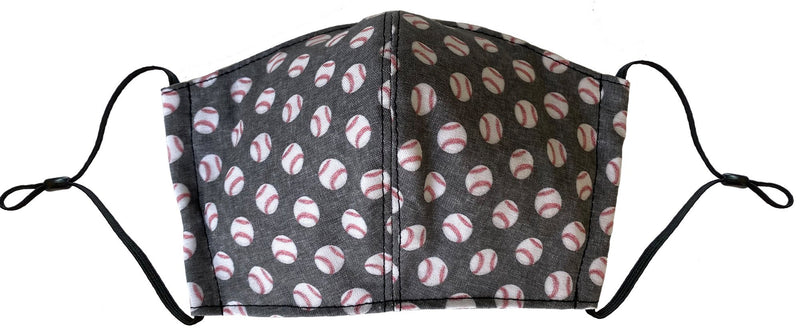 Kids Baseball Face Cover - LuxeMutt