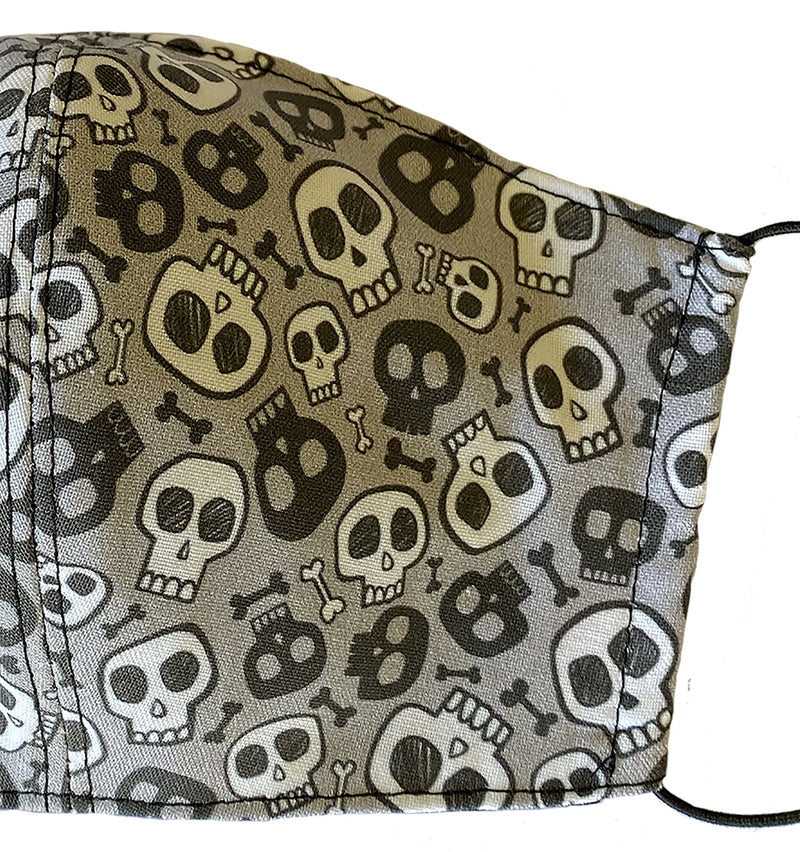 Kids Small Skull Face Cover - LuxeMutt
