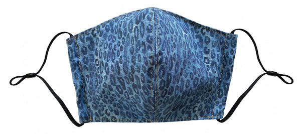 Leopard Denim Face Cover - LuxeMutt