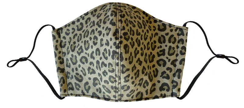 Olive Leopard Face Cover