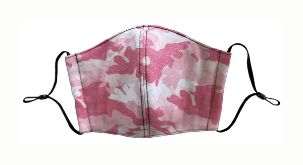 Pink Camo Face Cover - LuxeMutt