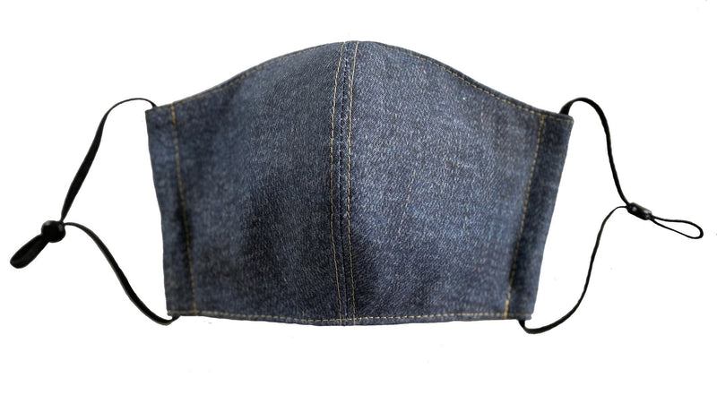 Vintage Wash Denim Face Cover - LuxeMutt