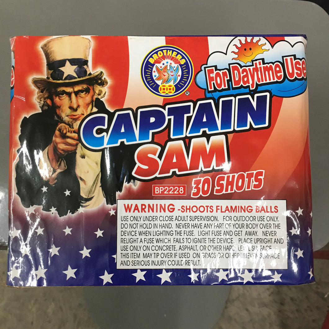 Captain Sam (formerly Captain America) - 30 shots