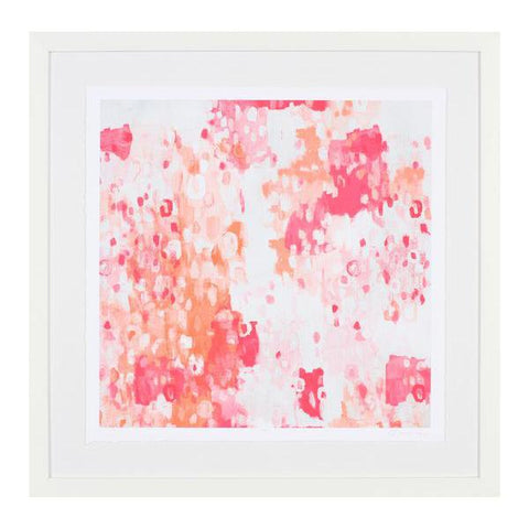 Pink and Coral Abstract Art