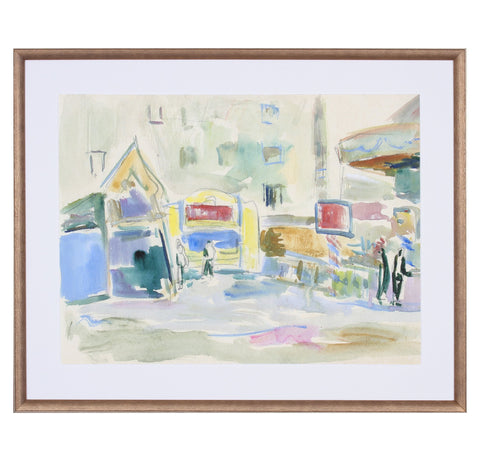 City Scene Watercolor 1