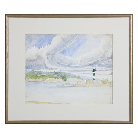 Beach Watercolor Landscape