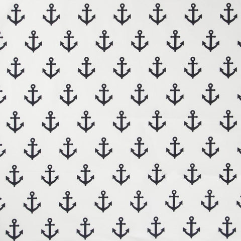 Navy Anchors Fabric