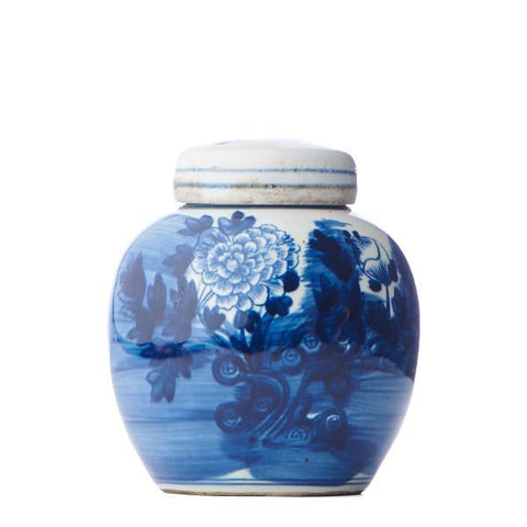 Floral Brush Stroke Lidded Jar