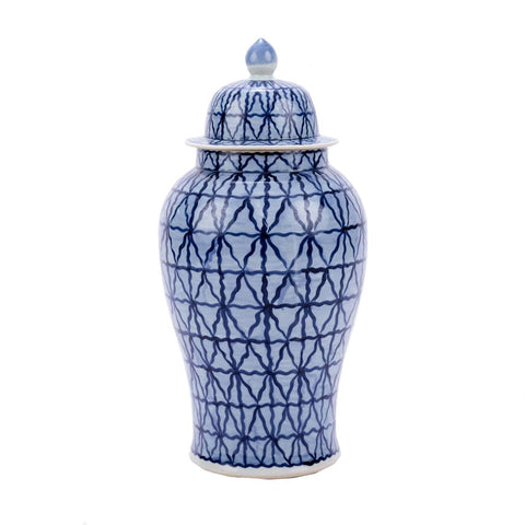 Large Diamonds Temple Jar
