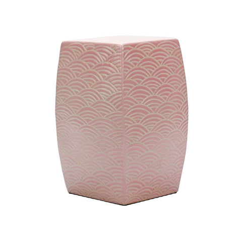 Blush Waves Stool