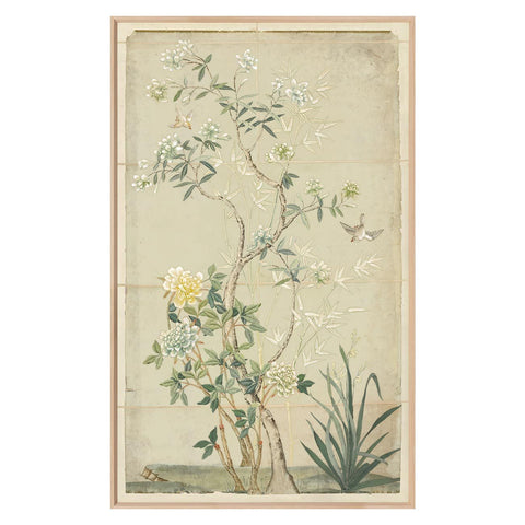 CHINOISERIE PANELS IN SOFT GREEN I