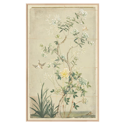 CHINOISERIE PANELS IN SOFT GREEN II