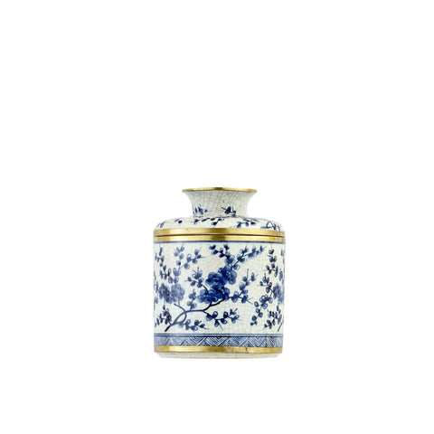 Blue & White Porcelain Tissue Holder