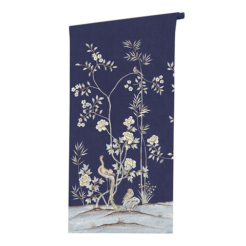 Belfort in Admiral Blue Wallpaper