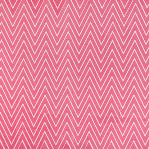 Coral Tall Chevron Fabric
