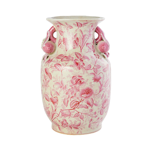 Porcelain Garden Vase in Rose Pink