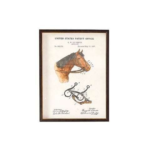 Horse Reigns Patent Print