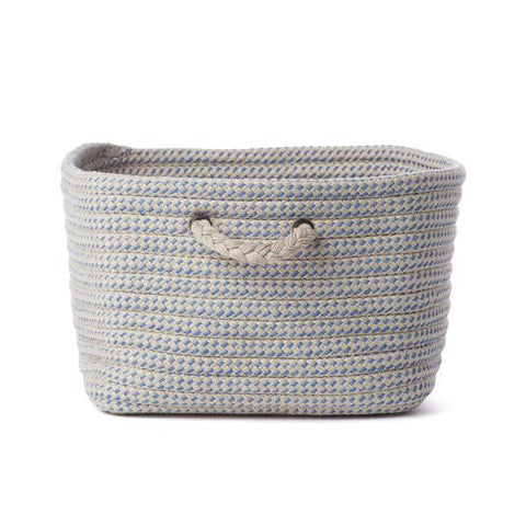 Grey and Blue Large Braided Basket