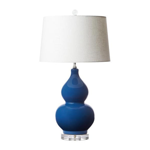 Double Gourde Lamp in Admiral Blue