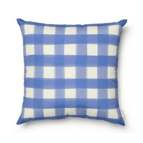 Aegean Blue Buffalo Check Pillow INDOOR/OUTDOOR