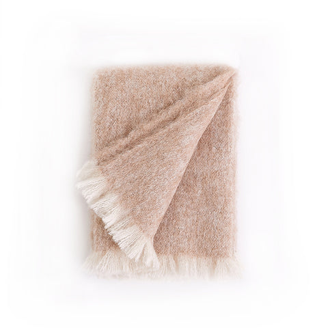 New! Alpaca Throw in Beige