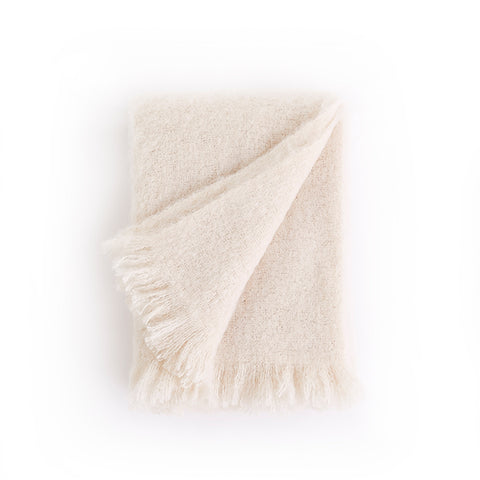 New! Alpaca Throw in Snow