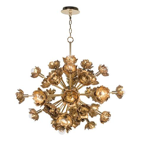 Blossom Chandelier in Gold