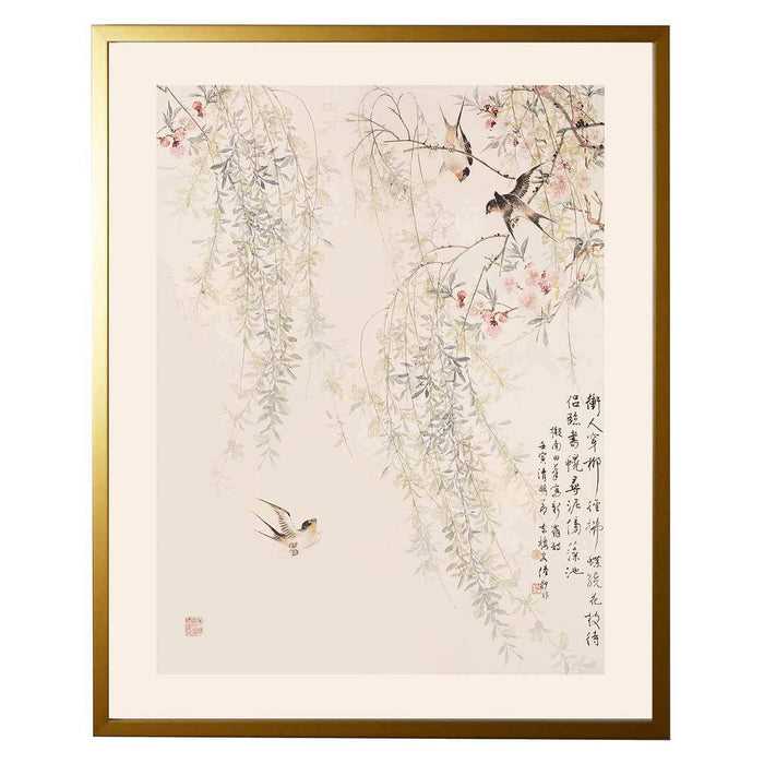 Asian Antique Blossom Print