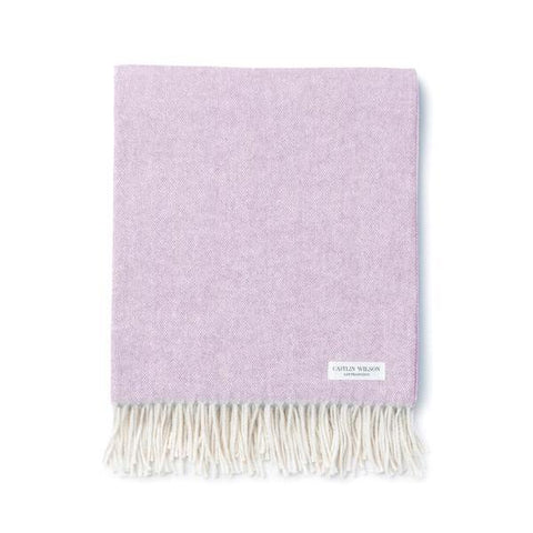 Herringbone Throw in Light Lilac