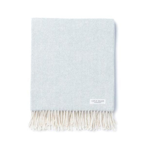 Herringbone Throw in Mist