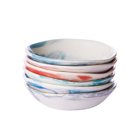 Marbled Petite Spice Dishes
