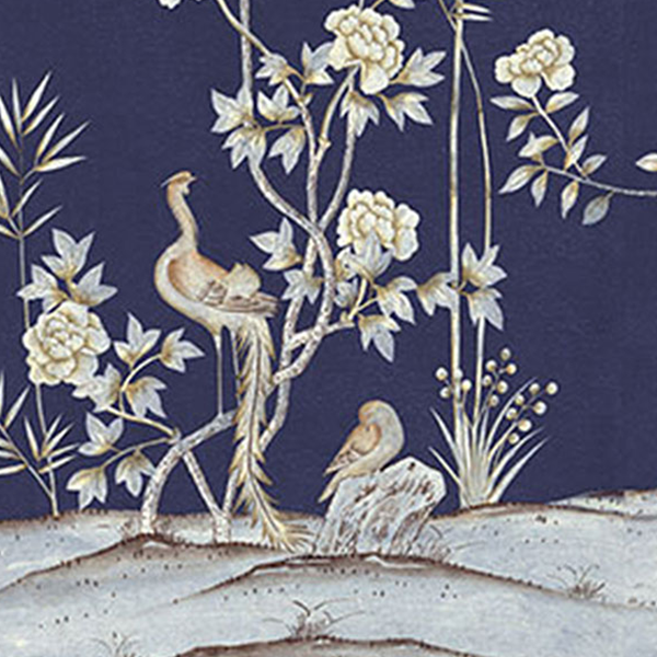 Belfort In Admiral Blue Wallpaper Swatch Caitlin Wilson