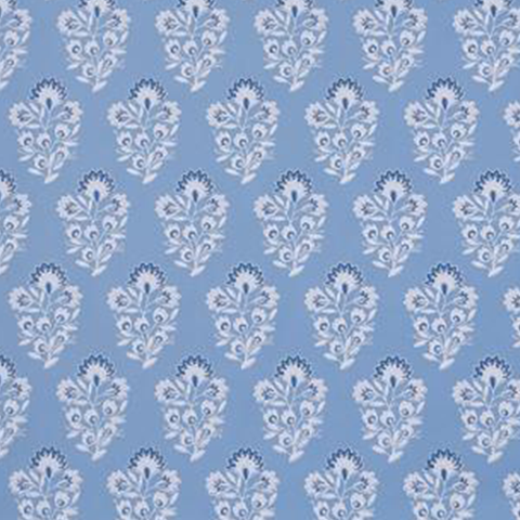 Block Print in French Blue Wallpaper Swatch