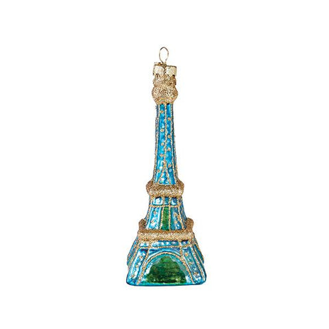 Blue Eiffel Tower Ornament