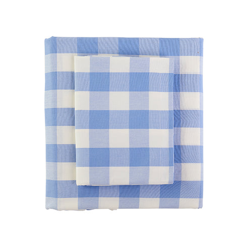Classic Check Duvet in French Blue