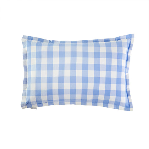 CAIT KIDS: Classic Check Sham in French Blue