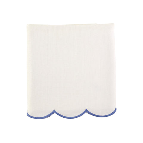 Scallop Crib Skirt in French Blue