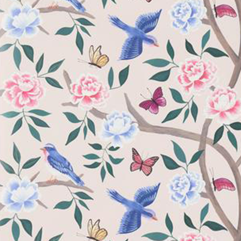 Blush Chinoiserie Wallpaper