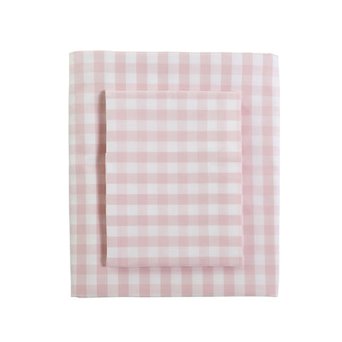 CAIT KIDS: Classic Gingham Duvet in Blush