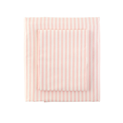 Classic Stripe Duvet in Peach Blush