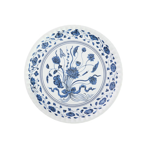 Blue & White Botanical Melamine Plate Set
