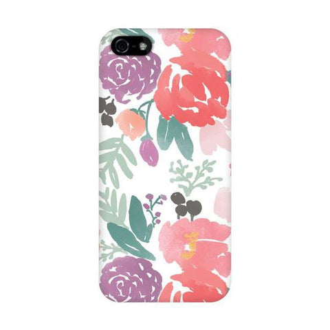 Bridge City Blooms on White Phone Cover