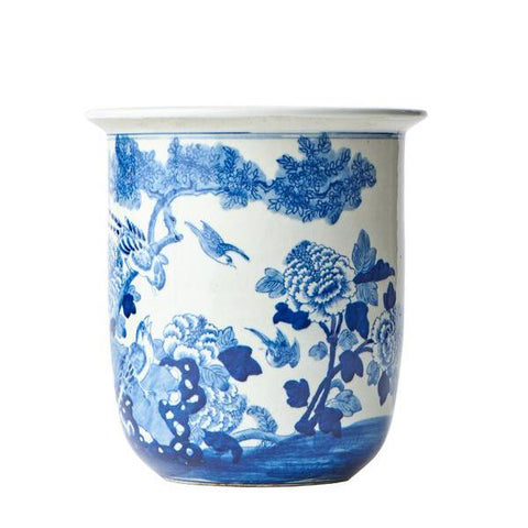 Blue and White Flower Pot