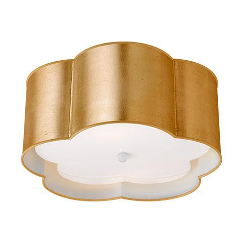 Bryce Medium Flush Mount in Gild & White