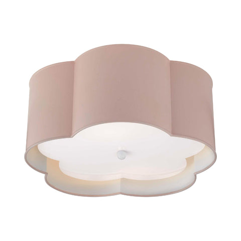 Bryce Medium Flush Mount in Pink & White